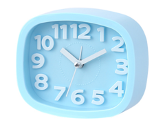 2EST Daily Silent alarm clock bed electronic clock simple clock small ornaments clock Blue normal