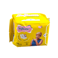 Softcare Sanitary Pad  Silky-Touch Net 285mm yellow