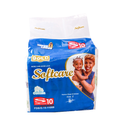 SOFTCARE Diaper Gold, Small 3-6Kgs,Count 10 For baby blue S10(3-6kg)