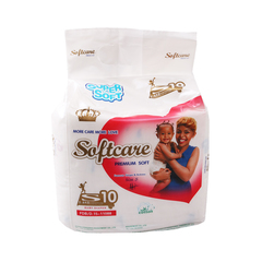 SOFTCARE Diaper Premium, Small 3-6Kgs,Count 10 For Baby white s10(3-6kg)