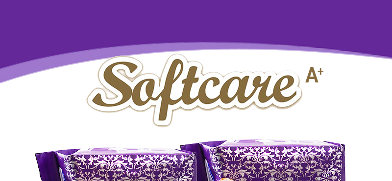 Softcare Sanitary Pad Breathable Cotton 285mm-10 Pads per Packet purple 1