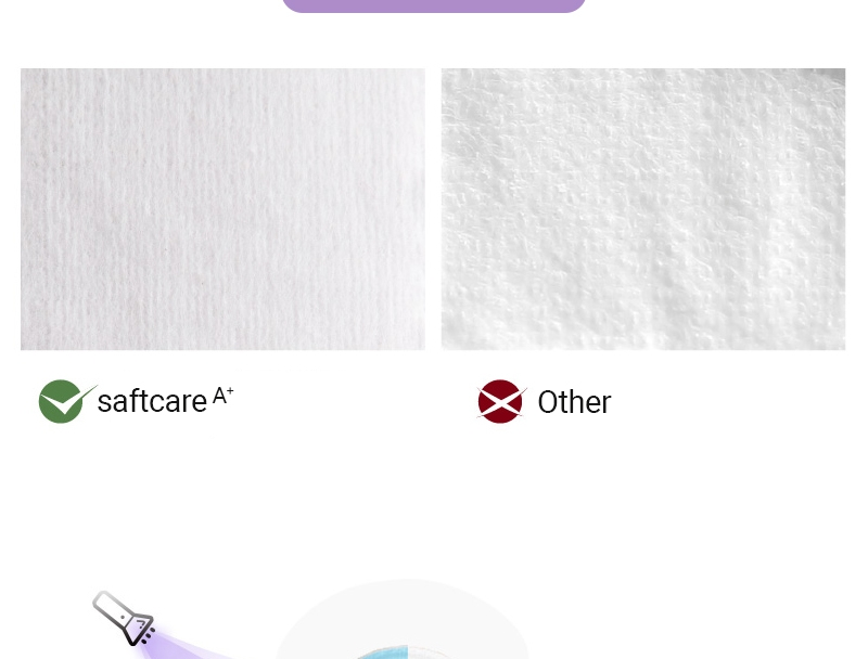 Softcare Sanitary Pad Breathable Cotton 285mm-10 Pads per Packet purple 6