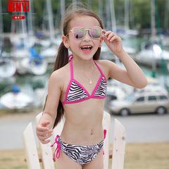 Baby Bathing Suit Swimwear Children Swimsuit Split Bikinis Set Zebra pattern Kids Swimsuit 1-7 Years Zebra pattern 3T