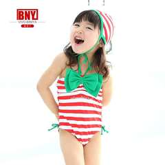 Children's Swimming Suit Conjoined Kid's Swimwear Red stripes red 3t