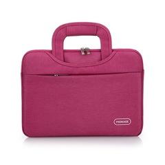 Portable Computer Bag handbag Men's Leisure Business Briefcase women's Laptop Bag pink one size