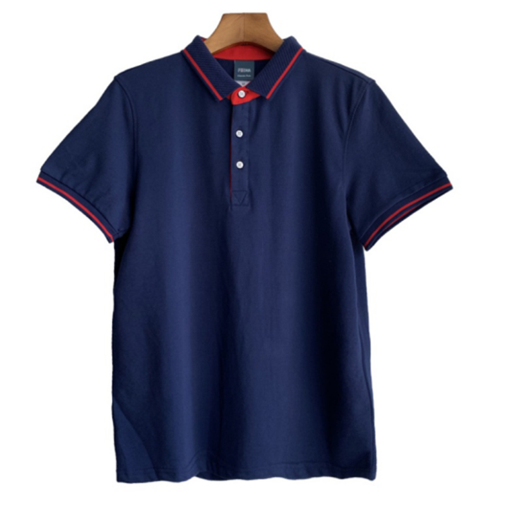 2019 New Men Polo T-Shirts Cotton Multiple Colors Simple Embroidery Casual&Business Plus Size Tops navy blue xl polyester&cotton