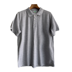 Men Polo Shirt Casual Short Sleeve Print  Fit  Polo Shirt New Summer Pure Color Male Clothes 2019 gray l polyester&cotton