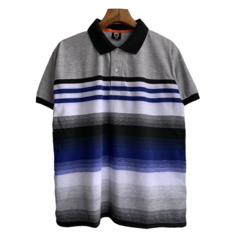 New Arrival  Men Gradual Colors Polo T-Shirts Casual Business Men Tops gray l polyester&cotton