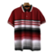 New Arrival  Men Gradual Colors Polo T-Shirts Casual Business Men Tops red xl polyester&cotton