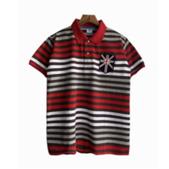 Summer Men Multiple Colors Stripe Polo T-shirts Fashion Short Sleeve Embroidery Casual Tops style 2 xxl polyester&cotton