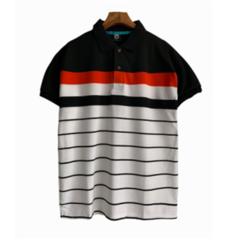 Fashion Men Shorte Sleeve Men Polo T-shirts Business Breathable Tops black xxl polyester&cotton