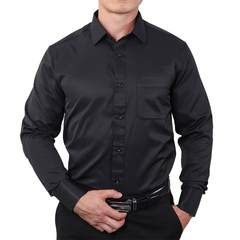 New Fashion Striped Shirts Male Cotton Casual Top black s