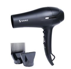Salon Hair Dryer DC Motor Negative Ionic Blow Dry with Comb Attachment for Fast Drying black 220-240v