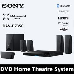 Sony DVD Home Theatre System DAV DZ350 1000W 5.1-Ch Bluetooth hometheater BLACK