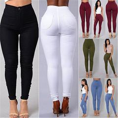 Thin jeans jeans stretch pencil pants, high waist jeans wash thin waist high spring women black s