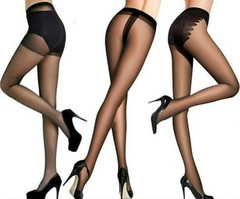 Stockings ladies thin pantyhose black shallow leg artifact ultra-thin long tube black one size