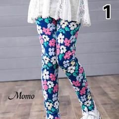 More Styles High-quality Baby Kids Girls Leggings Pants Flower Floral Printed Elastic Long Trousers 1 90