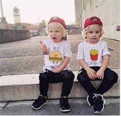 Fashion Best Friend Kids Boys And Girls Print Short Sleeve Cool T-shirt Shirt Tops white 0-12m