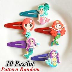 10Pcs Random Color Cute Kids Girl Hairpins Cartoon Hair Clips Child Barrettes Hair Band Accessories
