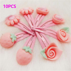 10Pcs/Lot Cartoon Kids Hair Jewelry Baby Infant Flower Clips Girls Lovely Hairpins Kinds of Flower