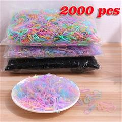 2000Pcs Mini Small Clear Rubber Hair Elastic Braids Plaits Braiding Band
