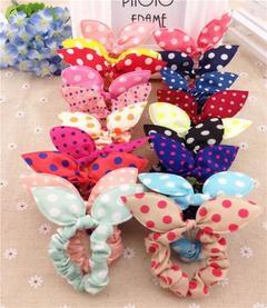 10 Pcs Clips For Hair Band Trip Hair Rope Rabbit Ears Headwear Hair Tie Baby Hair Accessories