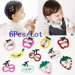 6Pcs Girls Hair Accessories Barrette Hairpin  Clips Girl Cute Headband Hair Clip Kids Hairclips