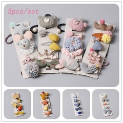 (12 styles) Cute Cartoon Hair Clips Set Hairpin Bear Hair Hairband Children's Hair Accessories
