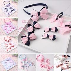 7Pcs Girls Elegant  Big Bow Hairpins Hair Clips Kids Hair Accessories