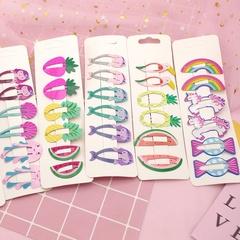 6 Pcs Korean Mini Hair Accessories, Colorful Fruit Hair Clips Hairpins
