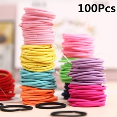 100Pcs Women Girls' Elastic Hair Band Colorful Hair Ties Ropes Scrunchy Tie Gum Accesorios