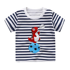 100% cotton children's underwear short-sleeved summer boys and girls baby T-shirt half-sleeved 1 73