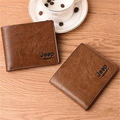 wallet men's short section soft leather men's leather clip long section ultra-thin leather coffee 1 one