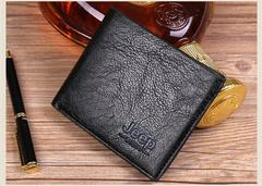 wallet men's short section soft leather men's leather clip long section ultra-thin leather black 1 one