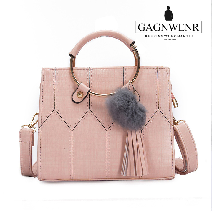 GAGNWENR Casual Leather Women's  Handbags Ladies Shopping Bag Shoulder Bags one size cherry 9(in)*4(in)*6(in)