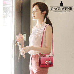 GAGNWENR Limited Explosion Promotion price reduction crazy rush to buy Leather Shoulder Bag Handbag claret 20cm*8cm*15cm