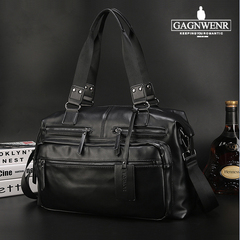 GAGNWENR Men Travel bag fashion Large capacity shoulder handbag Messenger Casual CrossbodyBlack Black one size 45*14*29cm