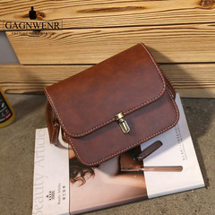GAGNWENR Casual Leather Women's  Handbags Ladies Shopping Bag Shoulder Bags Dark brown 20cm*6cm*17cm
