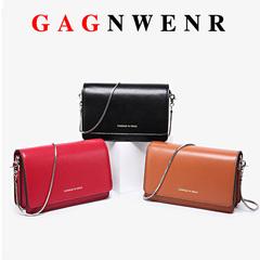 GAGNWENR Handbags Women Bags Latest Fashion Luxury Fashion Genuine Leather Flap black 20cm*6cm*13cm
