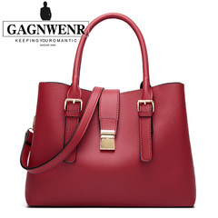 GAGNWENR Women Handbags Shoulder  bags  Fashion ladies Messenger    Leather  Bags  Low  Price red 13(in)*5(in)*12(in)