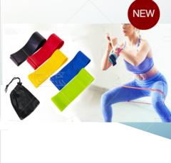 Fitness resistance belt elastic belt tension ring yoga tension belt,set of 5 as picture one size