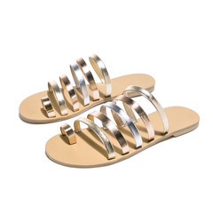 2019 Women's Slippers Summer Beach Casual Shoes Ladies Flat Heel Strap Slippers Roman Shoes Female brown 40
