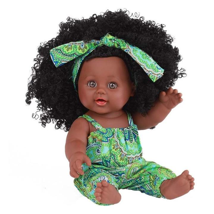 Model Dolls Black African Doll Asa Girl Soft Tool Toy Gift Toys For Children Lol Dolls Furniture Toy green <30cm
