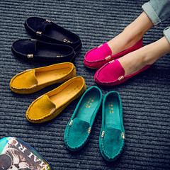 Plus Size 35-43 Women Flats shoes 2019  Candy Color Slip on Ballet Flats Comfortable Ladies shoe black 42