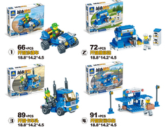 4 IN 1 Building Blocks LegoINGlys City Truck Blocks Toy Bricks Educational Building Toys as picture as picture