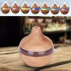 7 Color Nightlights Eletric Wood Grain Diffuser Cool Moisture Aroma Humidifier Air Freshener light wood 110*110*115mm