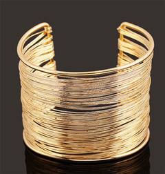 Women Bracelet New Trendy Women Jewelry Cuff Vintage Women Open Bangle Open Multilayer Accessories gold one size