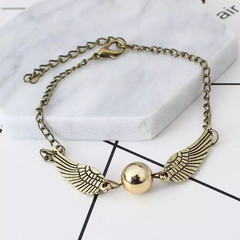 New Trendy Women Jewelry Angel Wings Stylish Women Bracelets Fashion Chain Beads Ladies Accessories gold one size