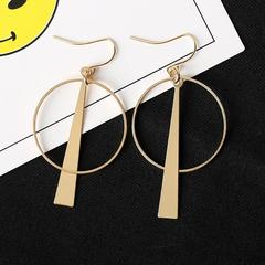 New Women Jewellery Circle Shape Women Earrings High Quality Metal Elegant Ladies Accessories gold one size