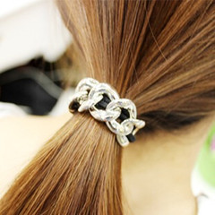Unique Women Hair Band Chain New Fashion Hair String Special Women Jewellery Shiny Hair Accessories silver one size
